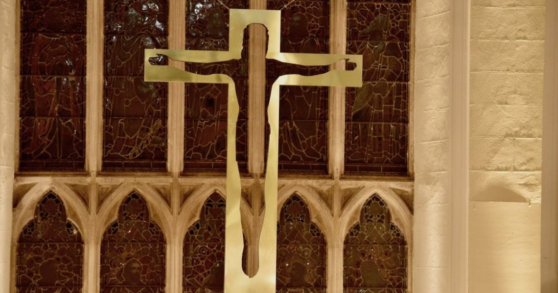 New suspended brass cross